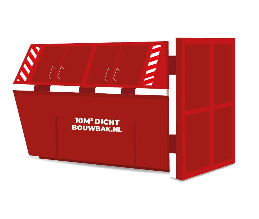 Afvalcontainer gesloten Dakafval D10M³
