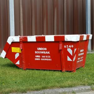 Bouwbak 3m³ afvalcontainer buiten